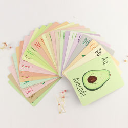 Imprimé personnalisé enfants anglais Bébé d'étude de l'apprentissage de la carte Flash