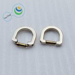 15,5 mm em liga personalizada de hardware de metal D Anel para mala/camiseta/Vestuário (YF364-19)