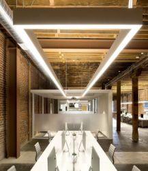 5 van de LEIDENE van de garantie In het groot schortte het Opgeschorte LEIDENE Lineaire Fabrikant van de Inrichting Lineaire Lichte Aluminium Aaneen te schakelen LEIDENE Lineaire Verlichting op