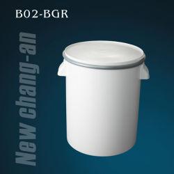 zylinderförmige Plastikwanne 20L mit Kappe und Griff für das Silikon-dichtungsmasse-Enthalten - B02-Bgr