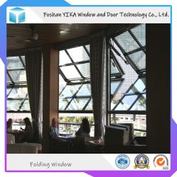 Электрический большого размера коммерческого использования алюминия Вертикальное окно фальцовки