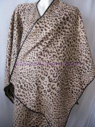 100% lã Leopard Imprimir U Cape