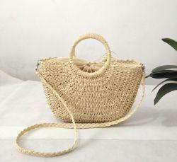 Vacances en plein air estivales Shopping Mesdames papier sac à dos Sac de plage de paille