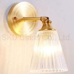 벽 램프 갓을%s 눌러진 홈이 있는 콘 유리는 유효한 주문 설계한다