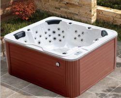 Precios baratos de masaje caliente al aire libre con bañera de hidromasaje para 4 personas de la luz de arco iris