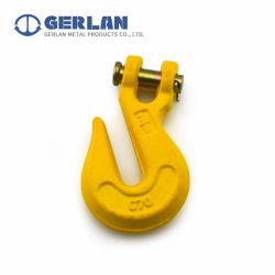 خطاف تعليق مزنك أصفر G70 ذو شوكة مفصلية مسروقة من الفولاذ القلي