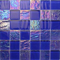 Deep Blue Misturar Color Square Piscina mosaicos de vidro