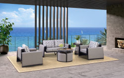 Modernes Qualitäts-Aluminiumgewebe-Garten-Sofa-gesetzte im Freienmöbel