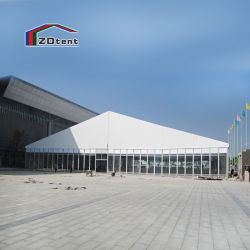 Retângulo de vidro casamento festa tenda parede transparente de alta qualidade à prova de PVC tenda de exposições ao ar livre