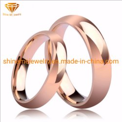 Mode liefhebbers 18k Rose Gold Jewelry Tungsten Ring