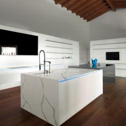 Novos Produtos Laje de Pedra de quartzo para armário de cozinha Bancada Bancada Superfície sólida no balcão de mármore artificial branco