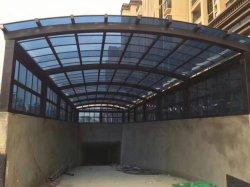Im Freien dekoratives Dach gebogenes Brown-Polycarbonat-Blatt