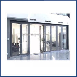 Puerta exterior de aluminio puerta plegable, Puerta de seguridad