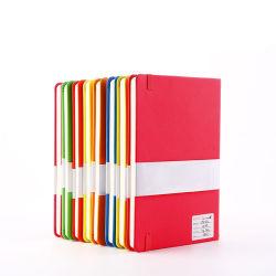 Het nieuwe Notitieboekje van het Document van het Gebruik van het Bureau van de Aankomst A5 met Elastiekje