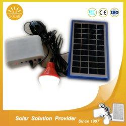 5W 10W Solar Sistema inicial com carregador de telemóvel e lâmpadas de LED