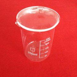 كأس قياس الكوارتز ذو شكل منخفض مع تخرج