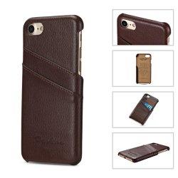 Горячая продажа натуральной кожи мобильный телефон назад чехол для iPhone 6g сотовый телефон с Assessories слот для карт памяти