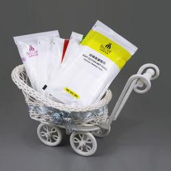 100% coton face enveloppée d'emballage individuel de nettoyage rafraîchissant serviette humide