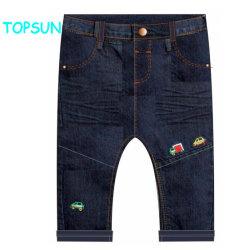 De aangepaste Broeken van de Jeans van het Borduurwerk van de Jongens van de Kinderen van de Broek van het Denim van de Herfst