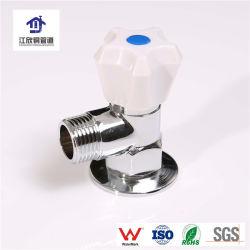 Placage au chrome en laiton flasque du bassin de la plomberie du raccord de tuyau en laiton de coude