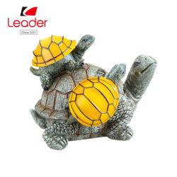 L'énergie solaire 2 bébés tortues sur la MAMA Accent de plein air de la tortue de l'éclairage jardin lumière à LED