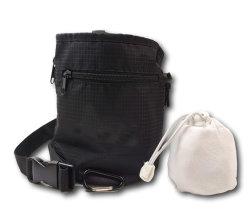 新しい到着の、Boulderingのためのチョークの球、ベルト、Carabinerクリップおよびファスナーを絞めるポケットが付いている上昇のチョーク袋上昇