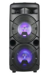 DJ parte Bluetooth Karaoke profesional de altavoces PA carro portátil inalámbrico de audio de la batería con luz LED ED-609