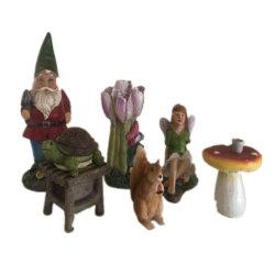 Цюаньчжоу производитель Polyresin на выходе мини-Gnome сад для дома и сада оформление