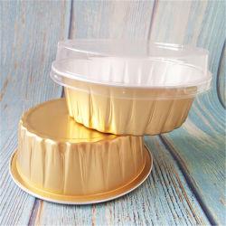 처분할 수 있는 테이크아웃 포장 Hot-Sealed 상한 알루미늄 호일 도시락 은종이 도시락 둥근 두껍게 한 금