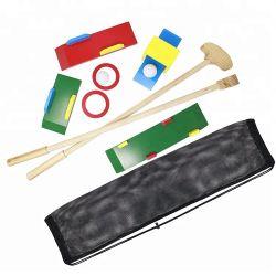 Los niños el deporte jugar mini golf de madera Set de juguetes de juego al aire libre