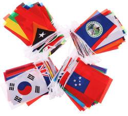 Os clubes desportivos eventos escolares Bunting bandeiras de países