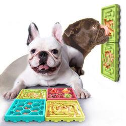 Lot de 4 Chien Anti-Choke Les animaux de compagnie bol bol d'alimentation lent des bols de chien