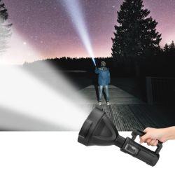 Lampe de poche rechargeable, Super Bright Lampe torche à LED, longue poutre P50 10W, résistant à l'eau de torche de poche pour la recherche aux flambeaux