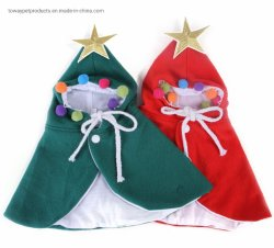 Design Dog Christmas Cape Pet Holiday Clothes パーカー PUP コート
