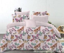 La conception de bonne qualité de la broderie drap de lit imprimé personnalisé Housse de couette Linge de lit en tissu de coton à 100 % de la literie défini