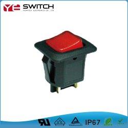 Resistente al agua IP67 Interruptor basculante de la luz de bloqueo de seguridad