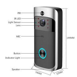 Neuer Türklingel-Ring-Bewegungs-Befund des inländischen Wertpapier-2020 drahtlose WiFi intelligente sichtlichvideotürklingel mit Kamera