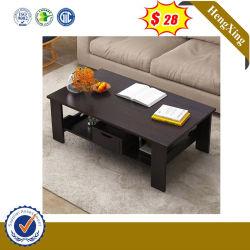 シンプルな設計の黒カラー木のホーム家具の現代側面のコーヒーテーブル