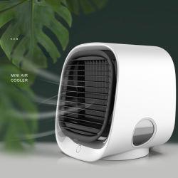 Laudtec Портативный кондиционер воздуха мини вентилятор воздуха вентиляторы кулер для воды циркуляционным большой ветер распыления воды электровентилятора системы охлаждения двигателя с помощью светодиодной лампы аккумулятор USB Mini вентилятор для подарка (вентилятор-20)