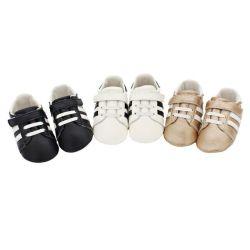 Nouvelle conception de la magie de bande de cuir de vache de l'enfant occasionnel des chaussures de Bébé Nourrisson20929-9 Prewalker (QC)