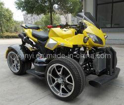 Cool design jaune 250cc ATV sièges doubles CEE approuvé sur la route VTT