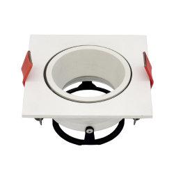 La inclinación de aluminio torneado lámpara halógena LED Luz empotrada de fijación (LT2205B)