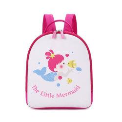 귀여운 작은 소녀 서늘한 가방 핑크 숄더 백 인어공주 패턴 경량 학교 백팩