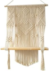 Macrame tejido Pared colgador de la planta de maceta exterior interior titular de la cesta