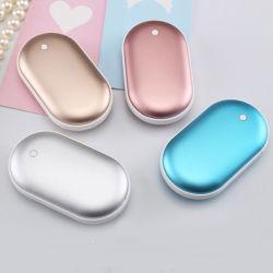 Banque d'alimentation réchauffe-mains électrique de chauffage côté Double réchauffe-mains cadeau réutilisable de charge USB pour l'hiver