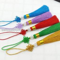 Mini Colgante Borla nudo chino de la decoración del hogar de la artesanía de joyas de la confección de cortinas textiles