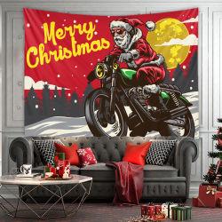 태피스트리 가정 벽 커튼 폴리에스테 눈 장면 크리스마스 나무 패턴 담요 홈 훈장 선물