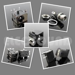 DC les bouchons en plastique noir 2,0mm électrique sans plomb