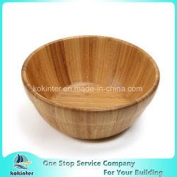 Bacia de bambu natural da salada da antiguidade de madeira por atacado da bacia da salada da acácia