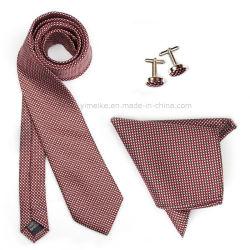 Commerce de gros logo personnalisé Handmade Tie à damiers mouchoir Cufflink cravate Ensembles cadeaux